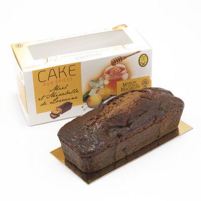 Cake aux épices, miel et mirabelles confites  (360g)