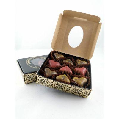 Ecrin coeurs en chocolat