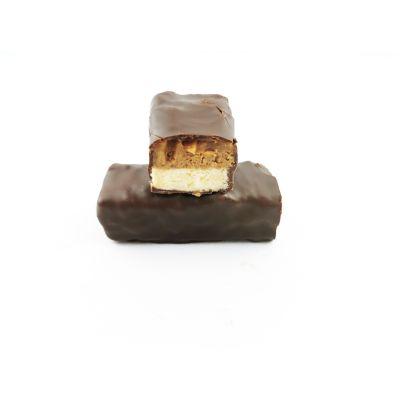 Barre biscuit caramel cacahuètes torréfiées